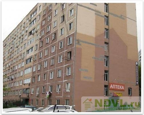 Владивосток, ул. Некрасовская, 52. 1-к квартира. Дом снаружи