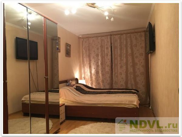 Владивосток, ул. Верхнепортовая. 2-к квартира. Спальная комната